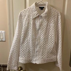 Nabi white jacket, sz XL, 100% Cotton NWOT $100